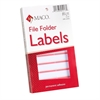 "MACO Color Coded File Folder Labels - 0.56"" Width x 3.43"" Length - Rectangle - Coral - 248 / Pack"