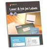 "MACO White Laser/Ink Jet Address Label - Permanent Adhesive - 1"" Width x 4"" Length - 20 / Sheet - Rectangle - Laser, Inkjet - White - 2000 / Box"