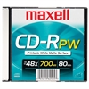 Maxell CD Recordable Media - CD-R - 48x - 700 MB - 1 Pack - 120mm - Printable - 1.33 Hour Maximum Recording Time