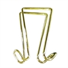 Artistic Double Hook Garment Hanger - 2 Hooks - for Garment - Brass - 1 Each