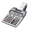 "Casio HR-100TMPLus Desktop Printer Calculator - Dual Color Print - 2 lps - Two-color Printing, Large Footprint, Independent Memory - 12 Digits - Battery/Power Adapter Powered - 4 - AA - 2.6"" x 6.3"" x"