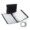 "Antimicrobial Locking Round Ring Binder - 1/2"" Binder Capacity - Letter - 8 1/2"" x 11"" Sheet Size - 3 x Round Ring Fastener(s) - 2 Internal Pocket(s) - Black - Recycled - 1 Each"