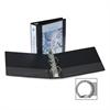 "Samsill Economy Insertable Binder - 3"" Binder Capacity - Letter - 8 1/2"" x 11"" Sheet Size - 575 Sheet Capacity - 3 x Ring Fastener(s) - 2 Internal Pocket(s) - Polypropylene, Chipboard - Black - Recycl"