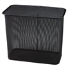 "Steel Mesh Rectangle Wastebasket - 7.50 gal Capacity - Rectangular - 16"" Height x 14"" Width x 8.5"" Depth - Steel - Black"