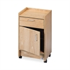 "Hausmann 901820346 Drawer and Cabinet Mobile Cart - 18.5"" x 18.5"" x 30"" - 1 x Drawer(s) - 180 lb Load Capacity - Oak - Laminate"