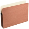 "Red Rope File Pocket - Letter - 8 1/2"" x 11"" Sheet Size - 3 1/2"" Expansion - Paper - Brown - Recycled - 1 Each"