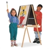 "Quartet Presentation Easel - 47"" Height - Oak - Natural"