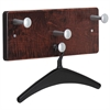 Wall Garment Rack - 4 Hooks - for Garment - Plastic, Wood - Mahogany, Black, Chrome - 1 Each