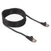 FastCAT Cat.5e Cable - Category 5e - 25 ft - 1 Pack - 1 x RJ-45 Male - 1 x RJ-45 Male - Black