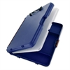 "Saunders Workmate II Storage Clipboard - Storage for Stationary - 10.66"" x 13.40"" - Low-profile - Polypropylene - Blue"