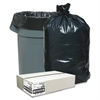 "Nature Saver Trash Liner - Medium Size - 33 gal - 33"" Width x 39"" Length x 1.25 mil (32 Micron) Thickness - Low Density - Black - Plastic - 100/Box - Cleaning Supplies"