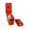 "Flambeau First Aid Storage Case - External Dimensions: 15.3"" Width x 7.6"" Depth x 10.1"" Height - Latching Closure - Heavy Duty - Stackable - Orange - For First Aid - 1 Each"