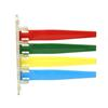 "Exam Room Status Signal Flag - 7.75"" x 7.25"" - Scratch-resistant - Plastic - Red, Green, Yellow, Blue"