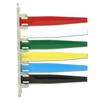 "IMC-DIP Exam Room Status Signal Flags - 10.12"" x 7.25"" - Scratch-resistant - Plastic - Red, White, Green, Yellow, Blue, Black"
