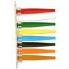 "Exam Room Status Signal Flag - 12.37"" x 7.25"" - Scratch-resistant - Plastic - Red, White, Green, Yellow, Blue, Black, Orange, Brown"