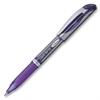 Pentel EnerGel Liquid Gel Stick Pen - Bold Point Type - 1 mm Point Size - Refillable - Violet Gel-based Ink - Silver Barrel - 1 Each