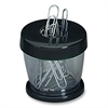 Paper Clip Dispenser - Plastic - 1 Each - Black