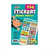 "Trend Animal Antics Sticker Pad - Self-adhesive - 9.50"" Height x 5.75"" Width - 738 / Pad"