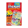 "Trend Schooltime Fun Sticker Pad - Self-adhesive - 9.50"" Height x 5.75"" Width - 738 / Pad"
