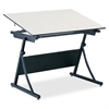 "PlanMaster Adjustable Drafting Table Top - Rectangle Top - 37.50"" Table Top Length x 60"" Table Top Width x 0.75"" Table Top Thickness - Assembly Required - Melamine"