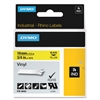 "Dymo RhinoPRO 18433 Label Tape - 0.75"" Width x 18.04 ft Length - Rectangle - Black, Yellow - Vinyl - 1 Each"