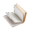 "End Tab Classification Folder - Letter - 8 1/2"" x 11"" Sheet Size - 2"" Fastener Capacity for Folder - 2 Divider(s) - 18 pt. Folder Thickness - Manila - Recycled - 10 / Box"