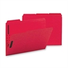 "Colored Fastener Folder - Letter - 8 1/2"" x 11"" Sheet Size - 2 Fastener(s) - 2"" Fastener Capacity for Folder - 1/3 Tab Cut - Assorted Position Tab Location - 11 pt. Folder Thickness - Red - Rec"