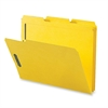 "Sparco Colored Fastener Folder - Letter - 8 1/2"" x 11"" Sheet Size - 2 Fastener(s) - 2"" Fastener Capacity for Folder - 1/3 Tab Cut - Assorted Position Tab Location - 11 pt. Folder Thickness - Yellow -"