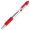 Zebra Pen Z-Grip - Medium Point Type - 1 mm Point Size - Red - Clear, Red Barrel
