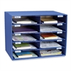 "Pacon Classroom Keepers Classroom Mailbox - 10 Compartment(s) - Compartment Size 3"" x 12.50"" x 10"" - Wall Mountable - Recycled - Blue - 1Each"