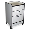 "3-Drawer Mobile Cart - 3 Drawer - 180 lb Capacity - 4 Casters - 2.50"" Caster Size - 18.5"" Width x 18.5"" Depth x 30"" Height - Gray"