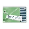 "Academie Sketch Pad - 50 Sheets - Plain - 50 lb Basis Weight - 18"" x 12"" - White Paper - 1Each"