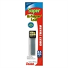 Pentel Super Hi-Polymer Lead Refill - 0.5 mmFine Point - HB - Medium - 6 / Pack