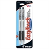 EasyTouch Retractable Ballpoint Pen - Medium Point Type - 1 mm Point Size - Refillable - Black - Clear Barrel - 2 / Pack