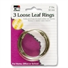 "CLI Looseleaf Ring - 2"" Diameter - Round - Silver - 3 / Pack"