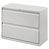 """Lateral File - 36"""" x 18.6"""" x 28.1"""" - 2 x Drawer(s) for File - Legal, Letter, A4 - Lateral - Rust Proof, Leveling Glide, Interlocking, Ball-bearing Suspension, Label Holder, Hanging Rail - Light"""