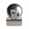 "Bulldog Magnetic Clip - 1"" Length x 1.3"" Width - 1 Pack - Silver - Steel"