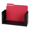 "Sparco Adjustable File Holder - 5 Compartment(s) - 6.1"" Height x 15.5"" Width x 5.4"" Depth - Desktop - Ebony - 1Each"