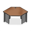 "Lorell 67000 Series Corner Desk - 42"" x 24"" - Radius Edge - Material: Steel - Finish: Charcoal, Cherry, Laminate"