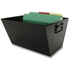 "Buddy Posting Tub Letter Size - 7.5"" Height x 12.5"" Width x 13"" Depth - Desktop - Recycled - Black - 1Each"