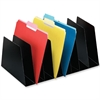 "Mirage Vertical Organizer - 8 Pocket(s) - 6.8"" Height x 10"" Width x 16"" Depth - Desktop - Black - Steel - 1Each"