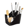 "CEP Desktop Organizer - 4 Compartment(s) - 4.6"" Height x 3.5"" Width x 3.8"" Depth - Desktop - Recycled - Black - Polystyrene - 1Each"