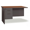"Lorell Right Desk Return - 48"" x 24"" - 2 x Box Drawer(s), File Drawer(s) - Single Pedestal on Right Side - Radius Edge - Material: Steel - Finish: Charcoal, Cherry, Laminate"