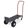 "Convertible Hand Truck with Deck - 800 lb Capacity - 2 Casters - 10"" Caster Size - Steel - 21"" Width x 18"" Depth x 47"" Height - Gray"