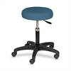 "Hausmann Pneumatic Air-Lift Exam Room Stool - 250 lb Load Capacity - 15"" x 15"" x 26.5"" - Slate Blue"
