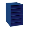 "Pacon Six Shelf Organizer - 17.8"" Height x 13.5"" Width x 12"" Depth - Recycled - Blue - 1Each"