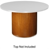 "Lorell Table Base - 22"" x 22"" x 27.5"" - Fluted Edge - Material: Hardwood - Finish: Cherry, Veneer"
