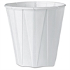 Solo Pleated Cup - 3.50 fl oz - 100 / Pack - White - Paper