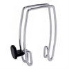 Alba Over-The-Panel Hook for Cubicles/Partitions - 1 Hooks - 3.50 lb (1.59 kg) Capacity - for Garment - Metal - Chrome - 1 Each