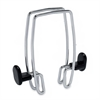 Alba Expandable Over-the-Panel Garment Hooks - 2 Hooks - 44.09 lb (20 kg) Capacity - for Garment - Polypropylene, Metal - Chrome, Black - 1 Each